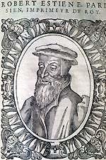 Robert Estienne, verse numbering pioneer.