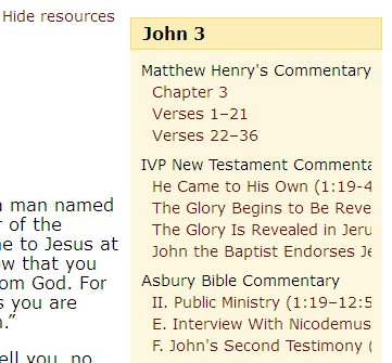 Printables Read The Passage how to read commentaries alongside scripture at the new bible view a commentary just click on title of one you want and it will open in same column so can th