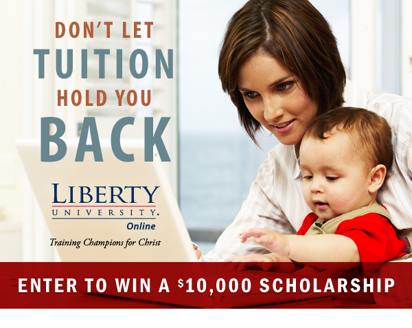 Don't Let Tuition Hold You Back!  Enter to Win a $10,000 Scholarship for Online College!