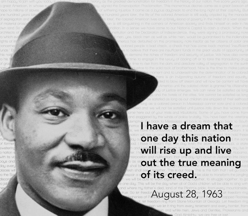 criminalize words in the i have a dream speech by martin luther king jr I have a dream: the life and times of martin luther king, jr in the i have a dream speech i found some discrepancies between what was written in the text of the book and the words mlk, jr actually spoke.
