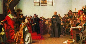 Martin Luther makes his case at the Diet of Worms in 1521.