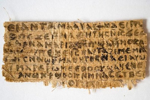 Gospel of Jesus Wife Papyrus Fragment