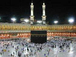 The Kaaba in Mecca, the spiritual center of Islam.