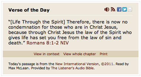 the new improved verse of the day bible gateway blog