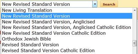 Revised Standard Version (RSV) and New Revised Standard