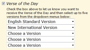 English Standard Version (ESV) Verse of the Day Now Available